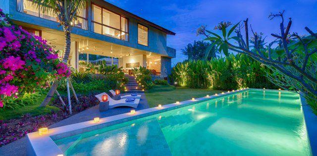 Villa casabama ii panggung piscine de nuit