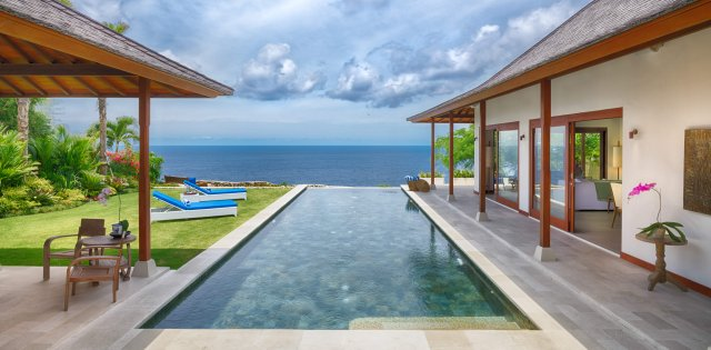 Villa sol y mar piscine et océan